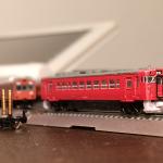Tゲージ鉄道模型 購入したのはとても小さいディーゼル気動車の鉄道模型とスペアパーツ。