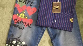 Vivienne Westwood ストライプシャツとデニム UKの最終セール近くのタイミングだったこともありお得に買えました。